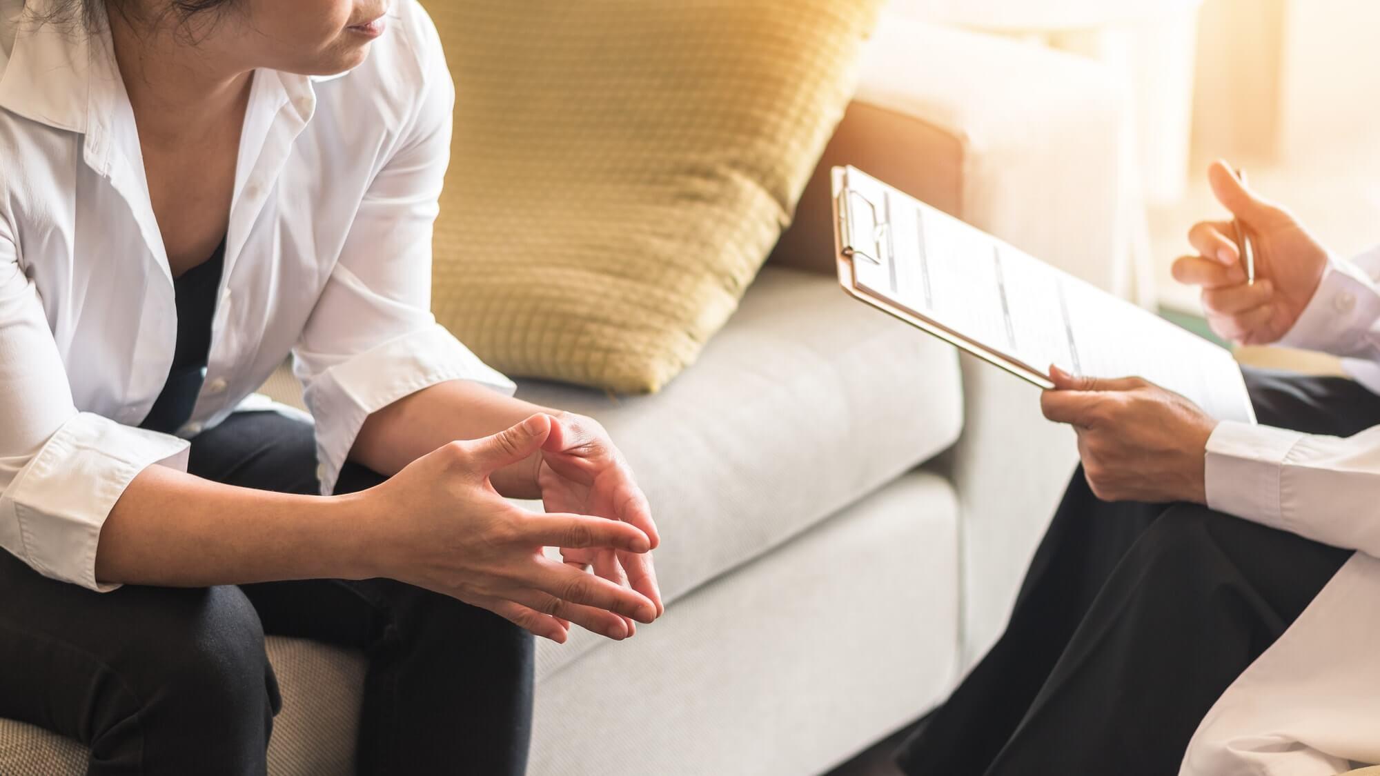 Therapeut met patiënt